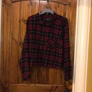 Tops - Maroon and Black Flannel